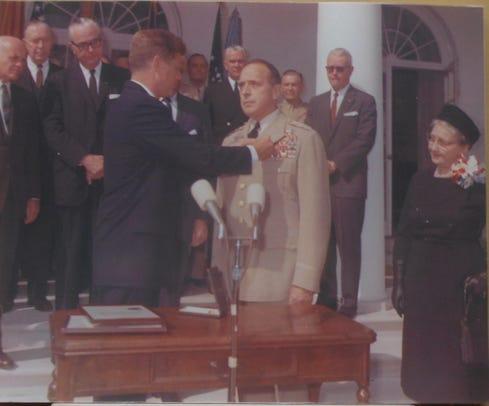 Lemnitzer and John F. Kennedy