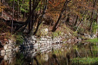"""Photo credit to Dave Soete, as he captured it this past week and """"was fascinated with the lighting on the old stone walls""""."""